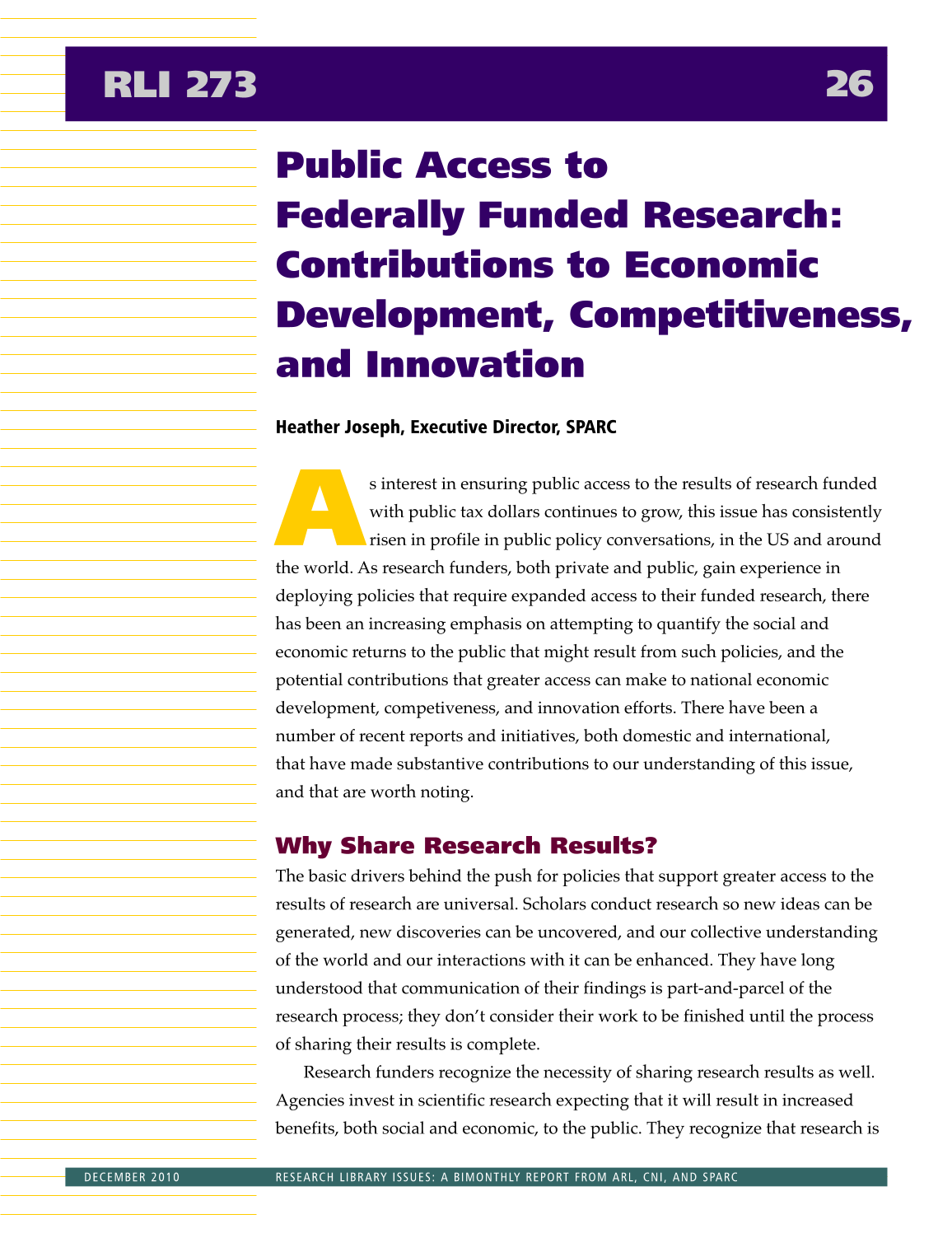 Research Library Issues, no. 273 (Dec. 2010) page 28